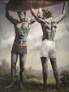 Two+Boys+Lifting+a+Scull,+oil+on+canvas+