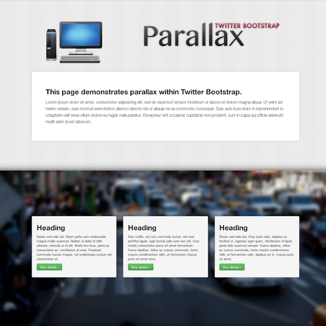How to Integrate Simple Parallax with Twitter Bootstrap