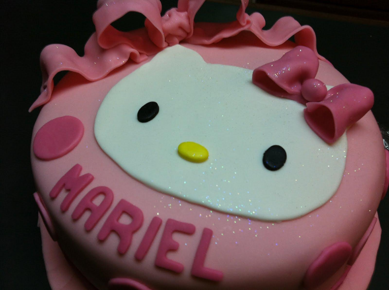 Cake Hello Kitty Pink : PINK HELLO KITTY CAKE ..... ....CUPaCAKE
