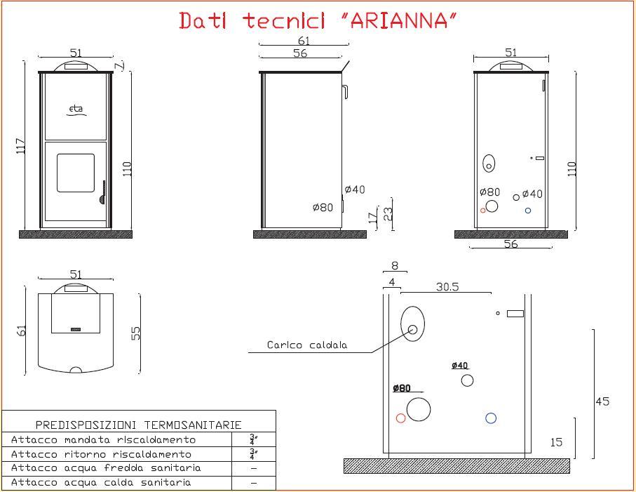 Arianna termostufe e stufe a pellet eta kamini for Eta kamini