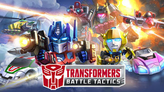 Screenshots of the Transformers: Battle tactics for Android tablet, phone.