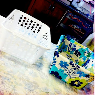 inspiration wrapped storage boxes Tales from a Cottage