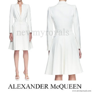 Crown Princess Mette-Marit Style Alexander McQueen Double Layer Lapel Coat Dress