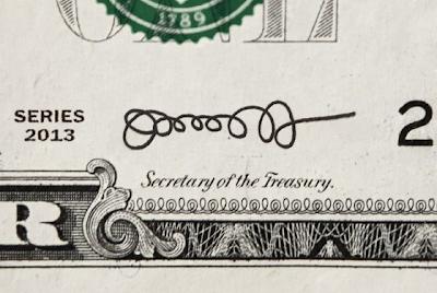 Jack Lew's New Signature