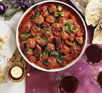 Moroccan Kofte & Chorizo Stew Recipe