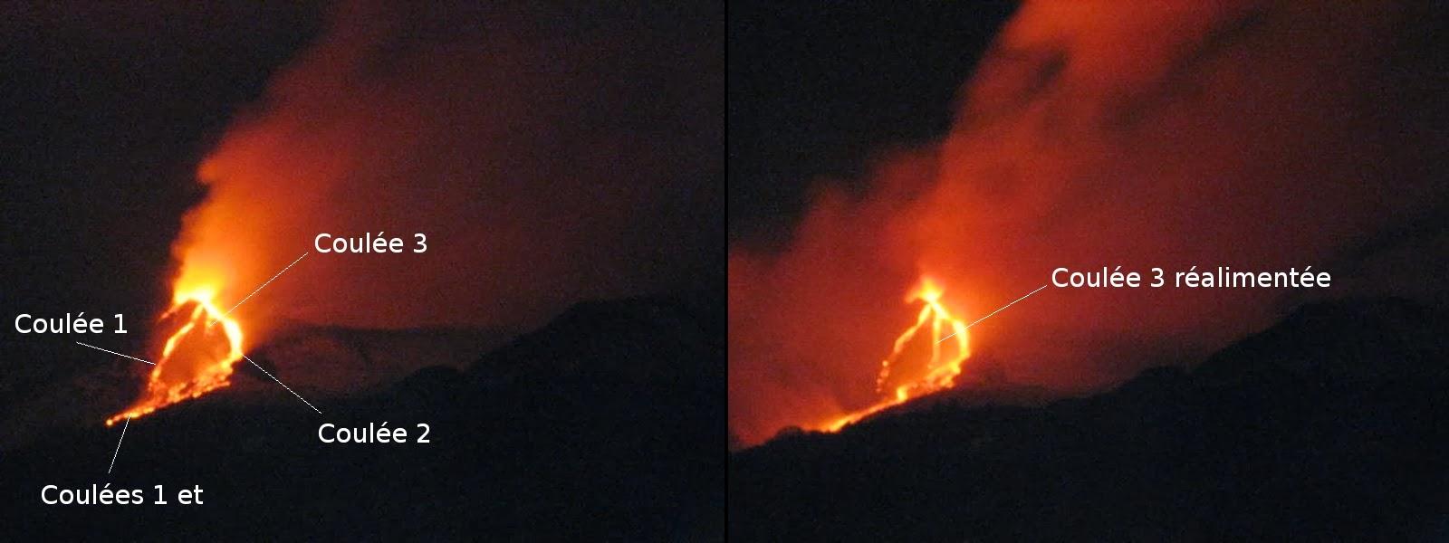 Coulées du 21eme paroxysme du volcan Etna, étape 4