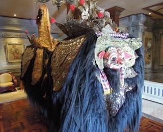 Balinese Barong dance, Barong costume, Ubud