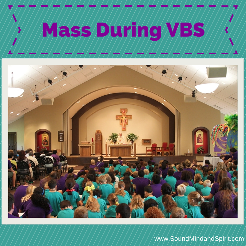Mass during VBS at St. Angela Merici