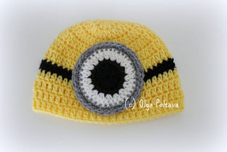 Minion Baby Hat Crochet Pattern, $2.35