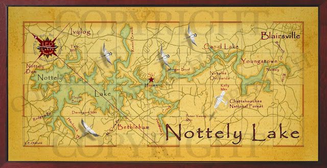 Old field studio nottely lake decor map for Lake nottely fishing