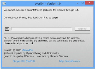 Jailbreak iOS 6 Evasi0n