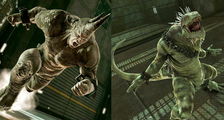 The Amazing Spider-Man Game 2012 Villains Reveal Rhino and Iguana