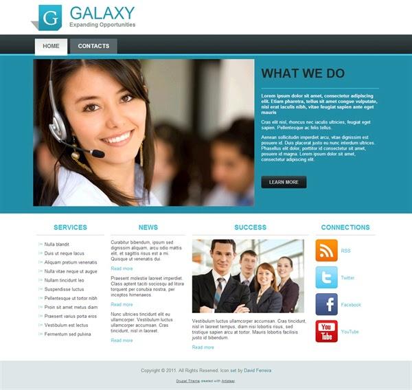 Galaxy - Free Drupal Theme