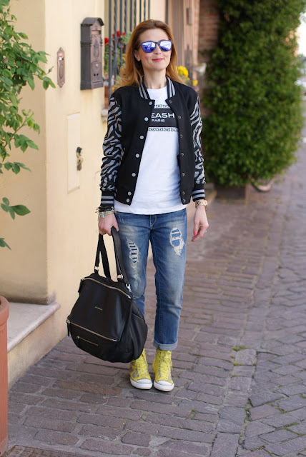 Varsity Jacket trend, Givenchy bag, Fashion and Cookies