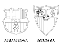 FC BARCELONA VS SEVILLA CF PARA COLOREAR