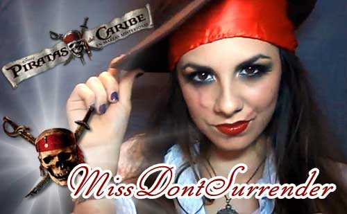 Maquillaje para disfraz de pirata por Miss Dont Surrender