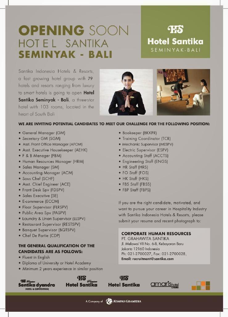 Opening Team Hotel Santika Seminyak Bali Hotelier Info