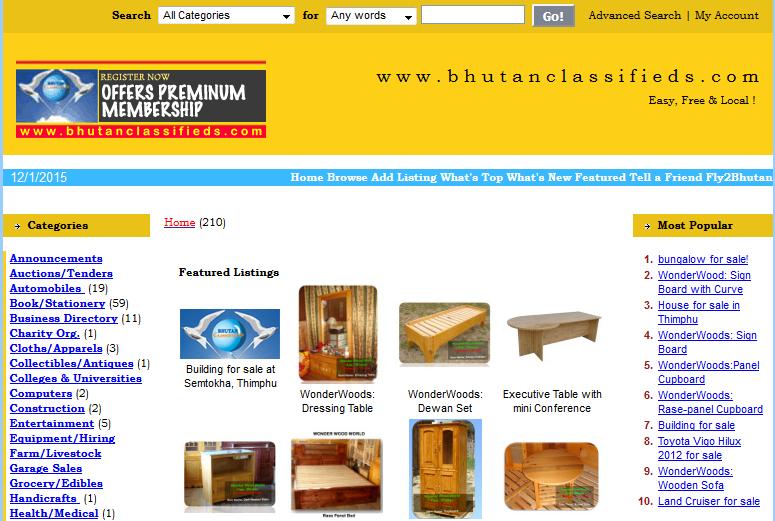 Online Shopping Sites In Bhutan 2015