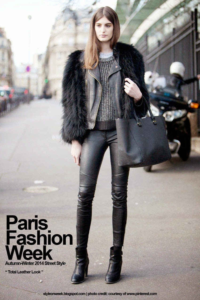 Paris Fashion Week Autumn-Winter 2014 Street Style - Total Leather Look