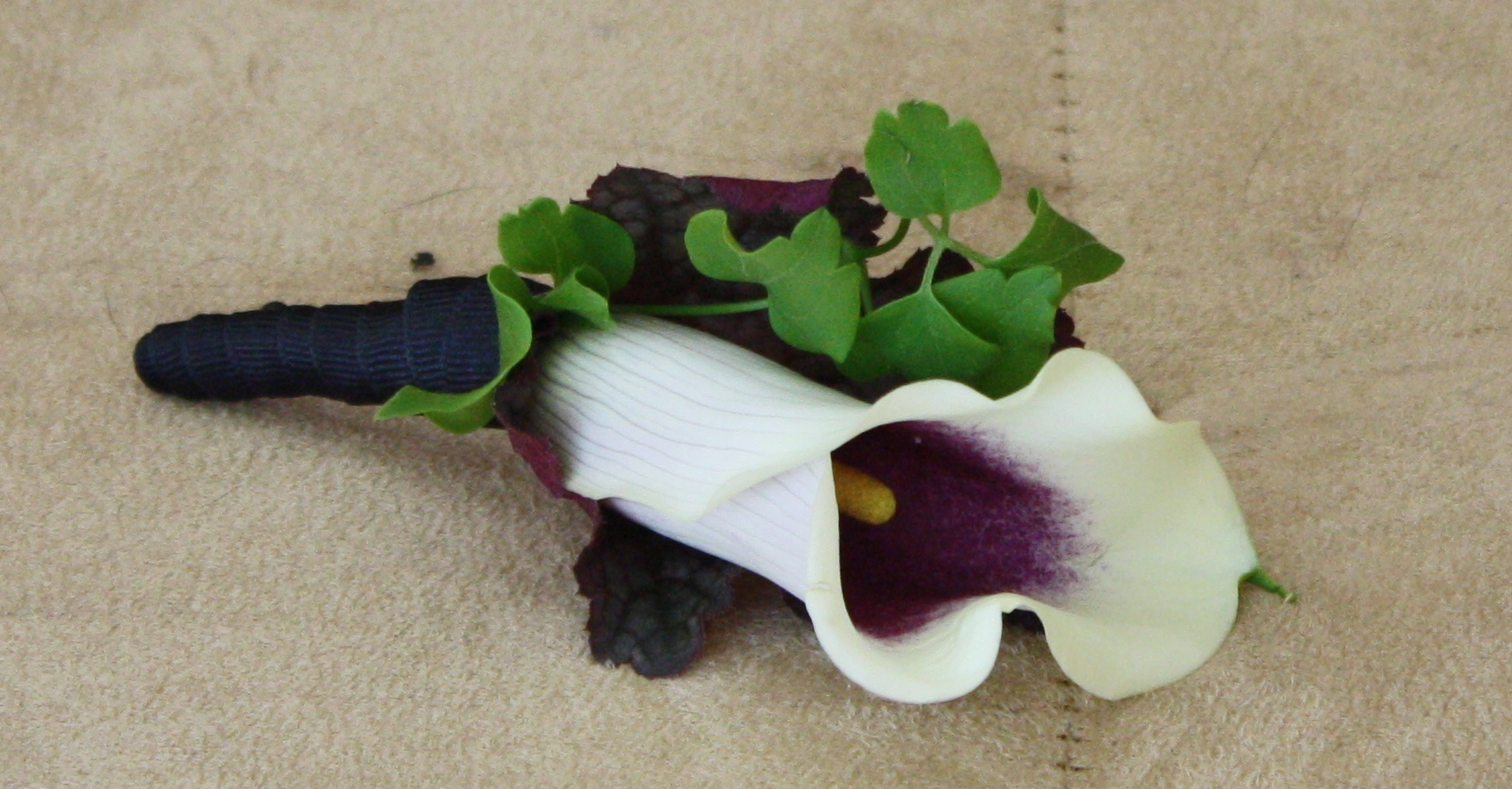 Calla Lily Boutonniere - Boutonnieres - Wedding Flowers - Groom - Usher - Best Man - Groomsmen - Ushers - Groom's Boutonniere