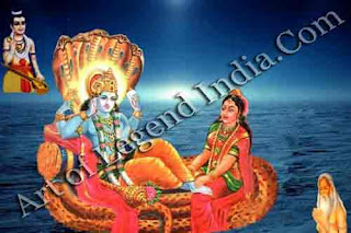 Lord Vishnu and Godesses Lakshmi