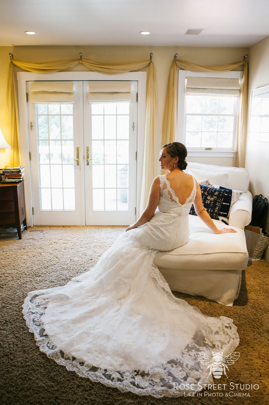 Beautiful Lace Wedding Gown l Rose Street Photo l Take the Cake Event Planning