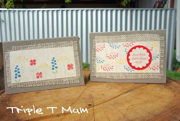 Card Making With Hessian