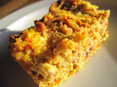 Pumpkin carrot holiday stuffing