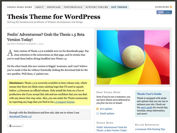 thesis demo sites Jupiter wordpress theme demo showcases the power points of jupiter, sample usages of the theme to create landing pages and hundreds a templates.