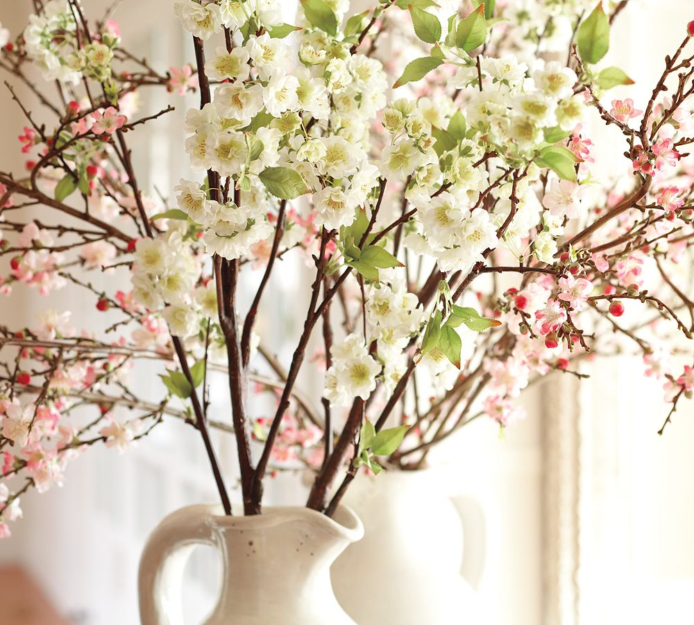 White Cherry Blossom Centerpiece : What a rush all things pottery barn