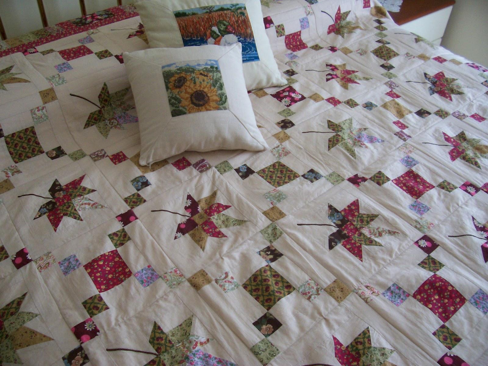 Coperta patchwork matrimoniale e cuscini/Queen size quilt and