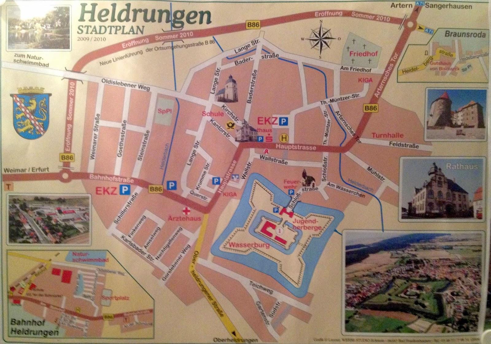 Stadtplan Heldrungen