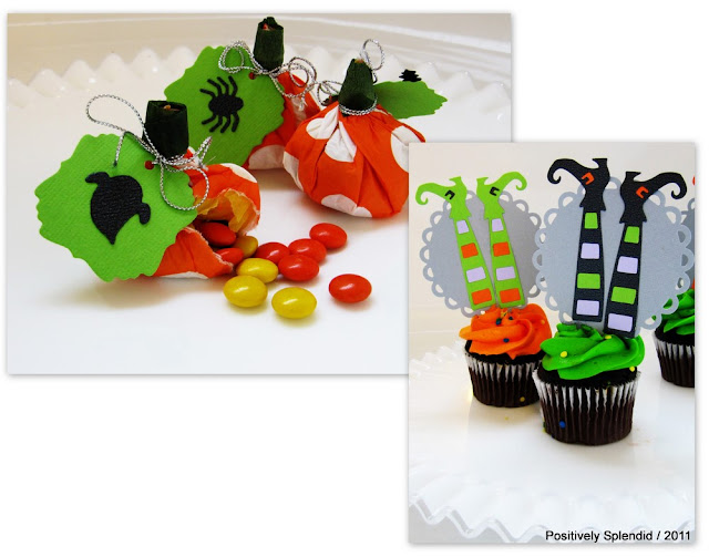 halloween crafts for kids: candy-filled pumpkin treats and bewitching cupcake toppers tutorial