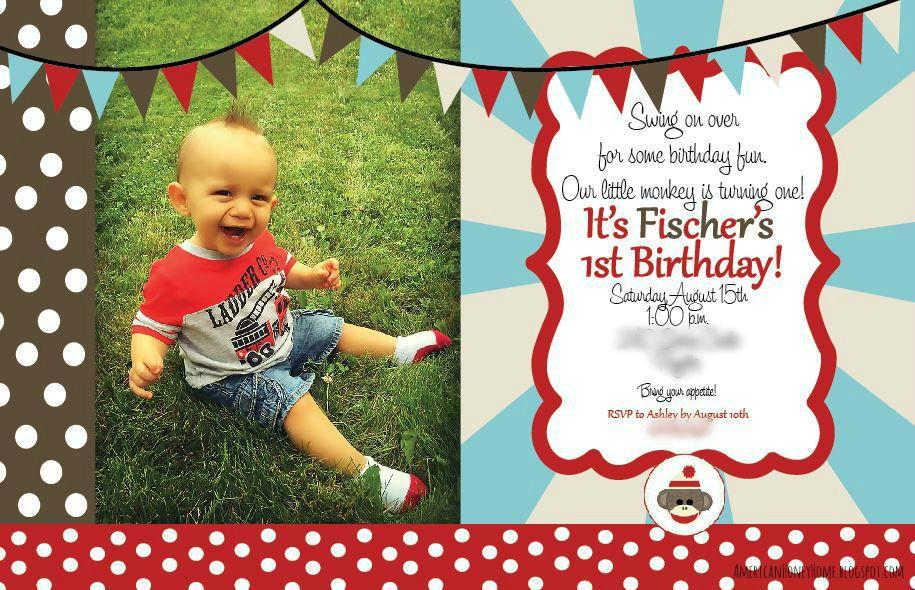 American Honey Home: Sock Monkey 1st Birthday Party & Cake Smash