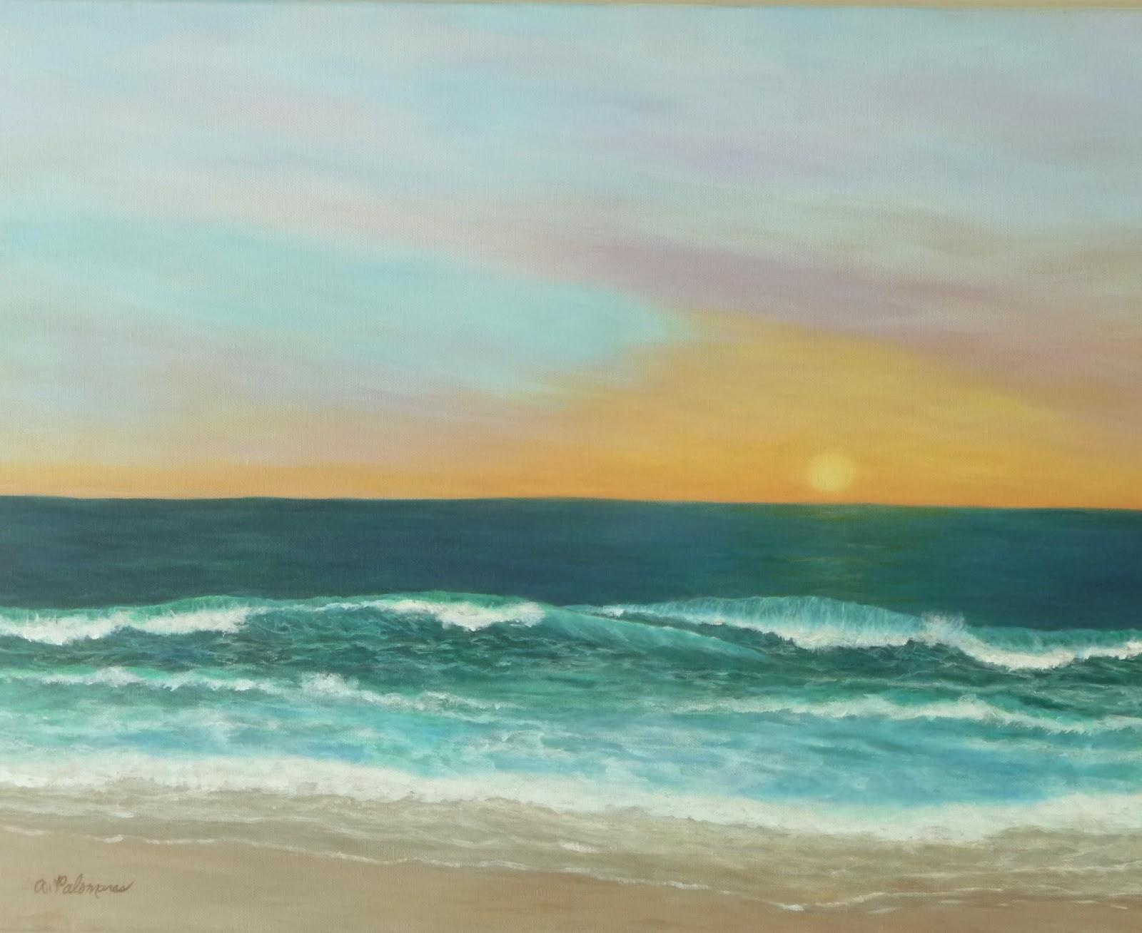 ocean painting