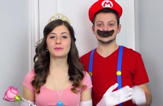 30 diy halloween costume ideas for couples do it yourself ideas princess peach mario solutioingenieria Choice Image