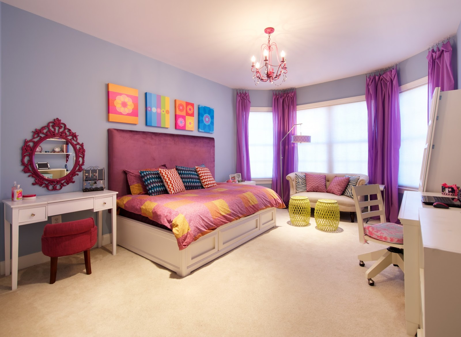 Funky colorful haven for a tween girl from olamar interiors home design trends interior - Tween room decorating ideas ...