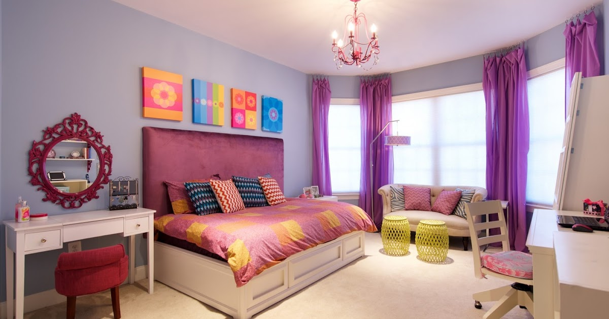 Funky colorful haven for a tween girl from olamar - Funky interior design ideas ...