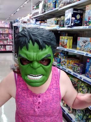 Hulk mask #Halloween