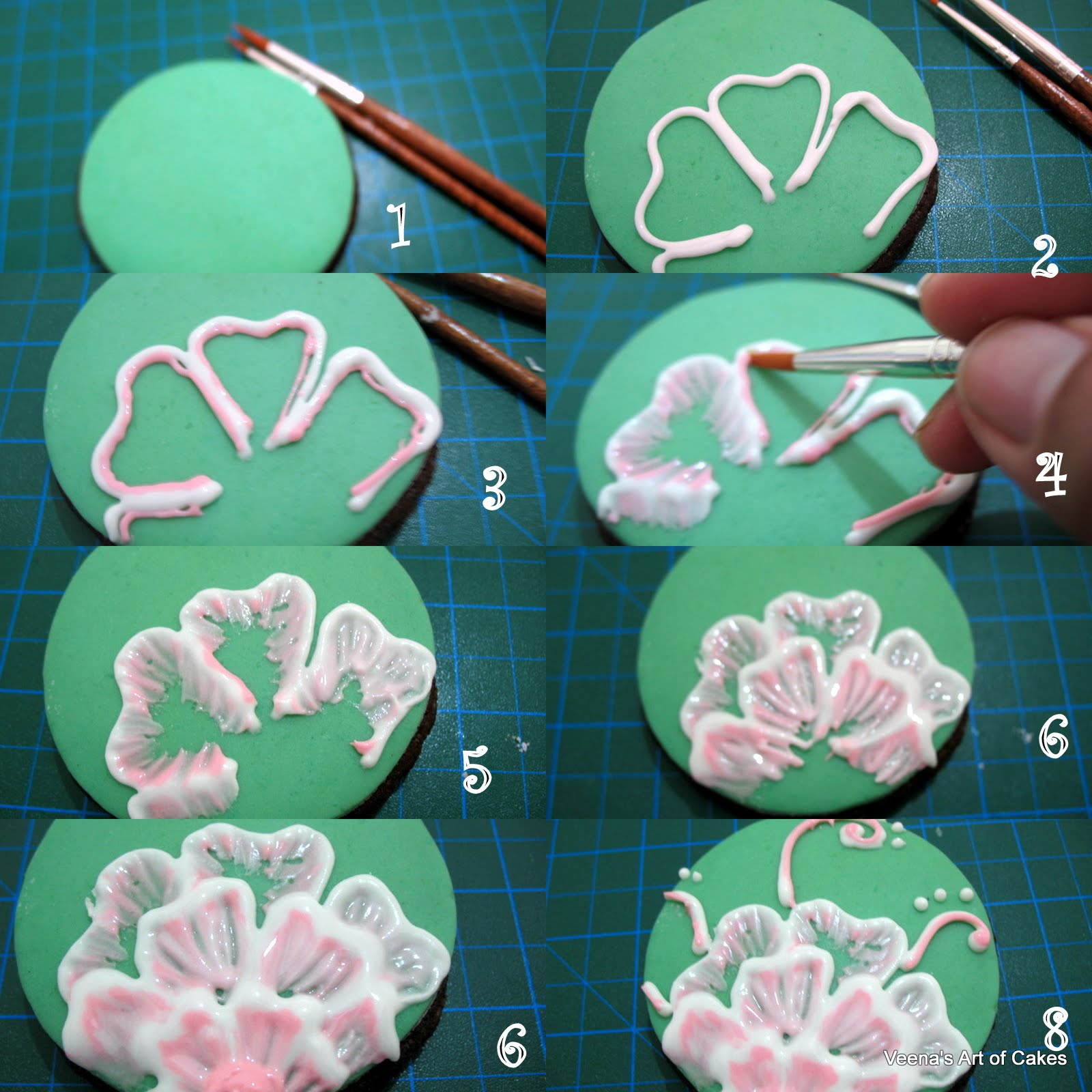 Brush embroidery cookies flavor of cooking