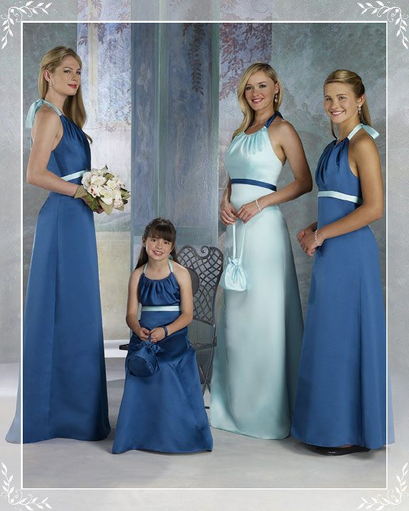 Bridesmaid dresses design to family and kids