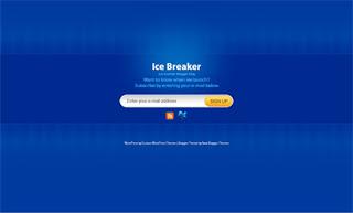 Ice Breaker Blue Blogger Template