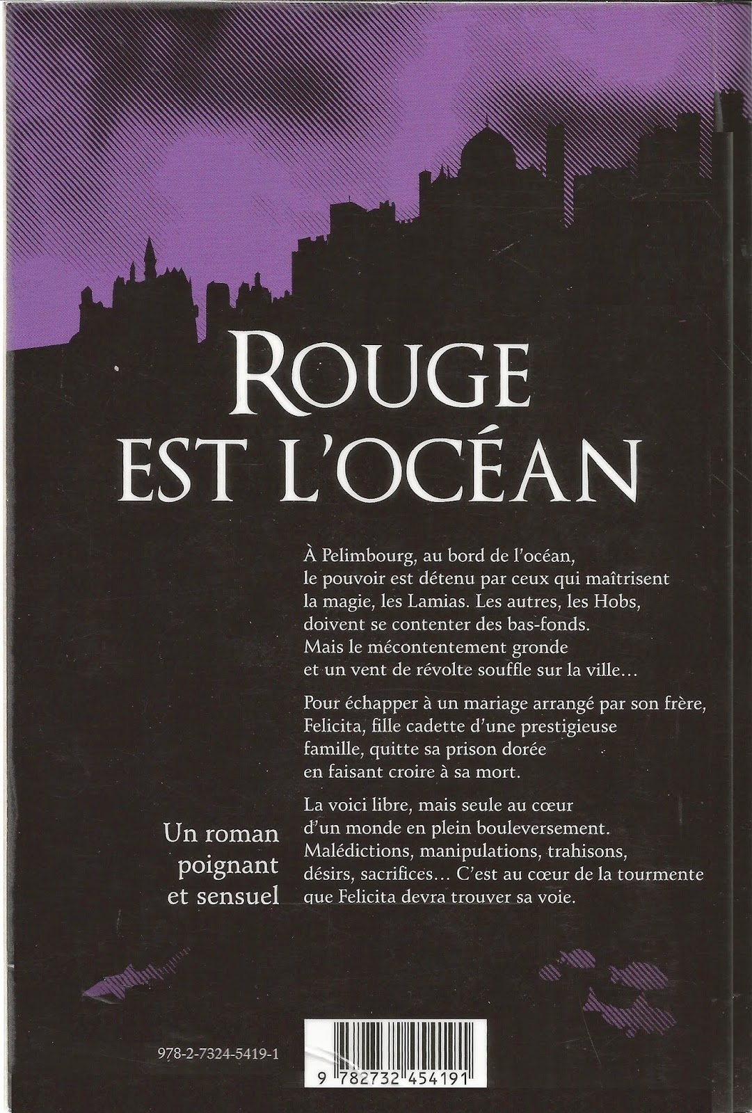 ROUGE EST L'OCEAN (When the Sea is Rising Red) - Cat Hellisen back cover quatrième de couverture