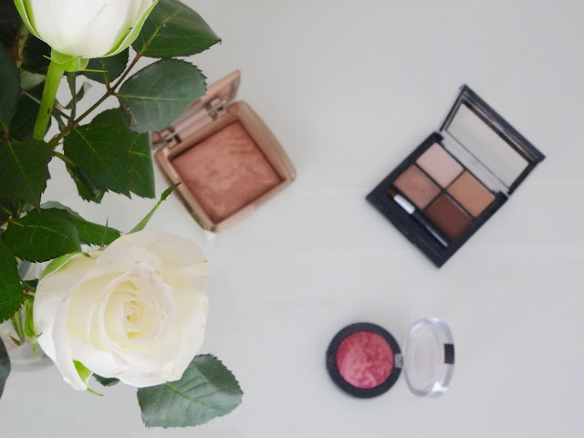 Max Factor Creme Puff Blush in 30 Gorgeous Berries, Hourglass Ambient Lighting Bronzer in Radiant Bronze Light and Fleur De Force eyeshadow quad in 010 Cosmic Bronze