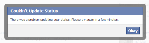 Could not update status FB