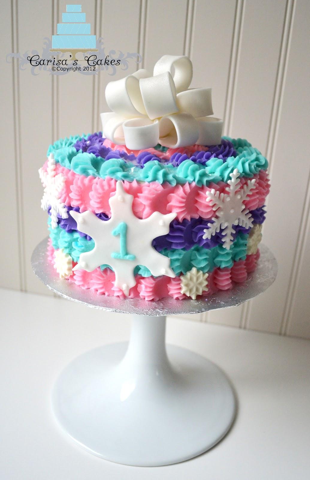 Cake Ideas For Cake Smash : Carisa s Cakes: Winter Smash Cake