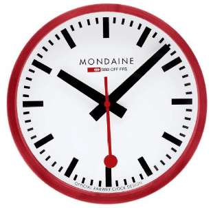 Swiss Railway wall clock