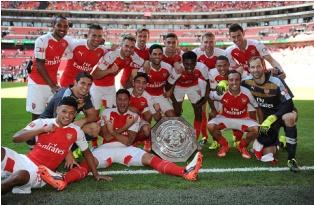 Arsenal Juara Community Shield 2015