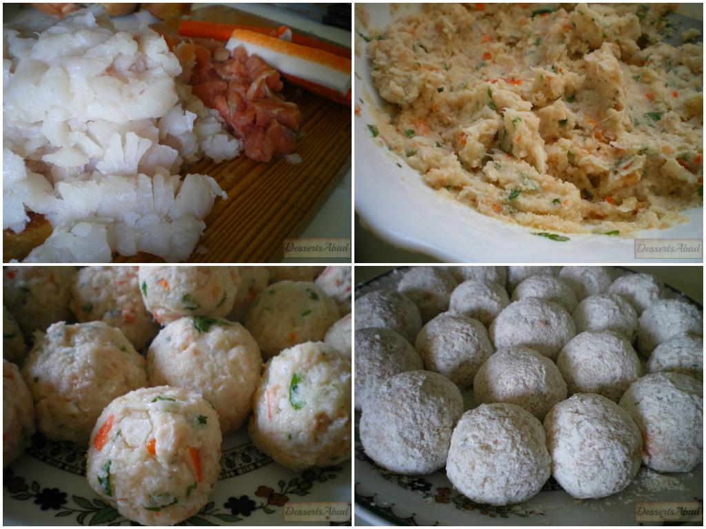 Albóndigas marineras (elaboración)