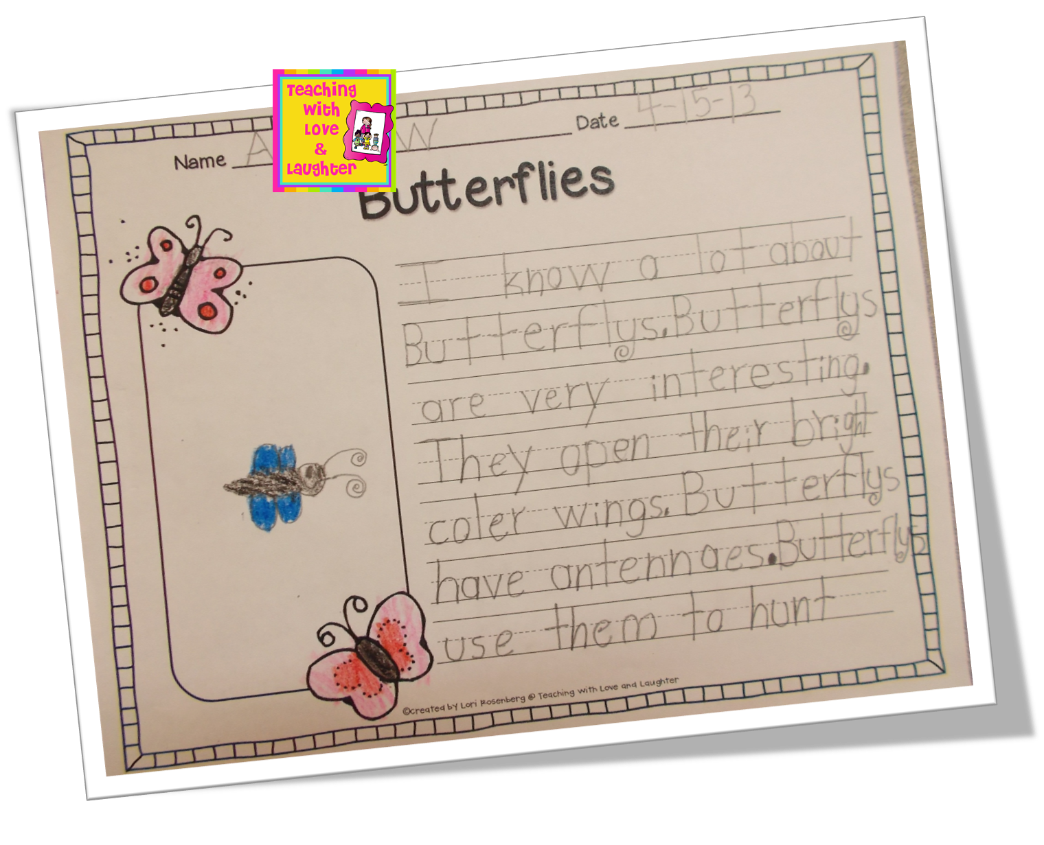 teaching love and laughter second grade interviews they made beautiful butterflies to go their essays but my darn camera battery died before i snapped some pictures here are two sample essays